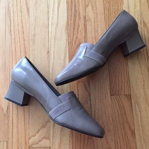 Naturalizer Taupe Loafer Block Heel Shoes